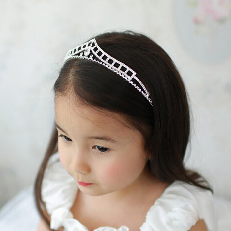 S Clear Crystal Stone Hairbands Tiara Wedding Jewelry Flower Hair Accessories
