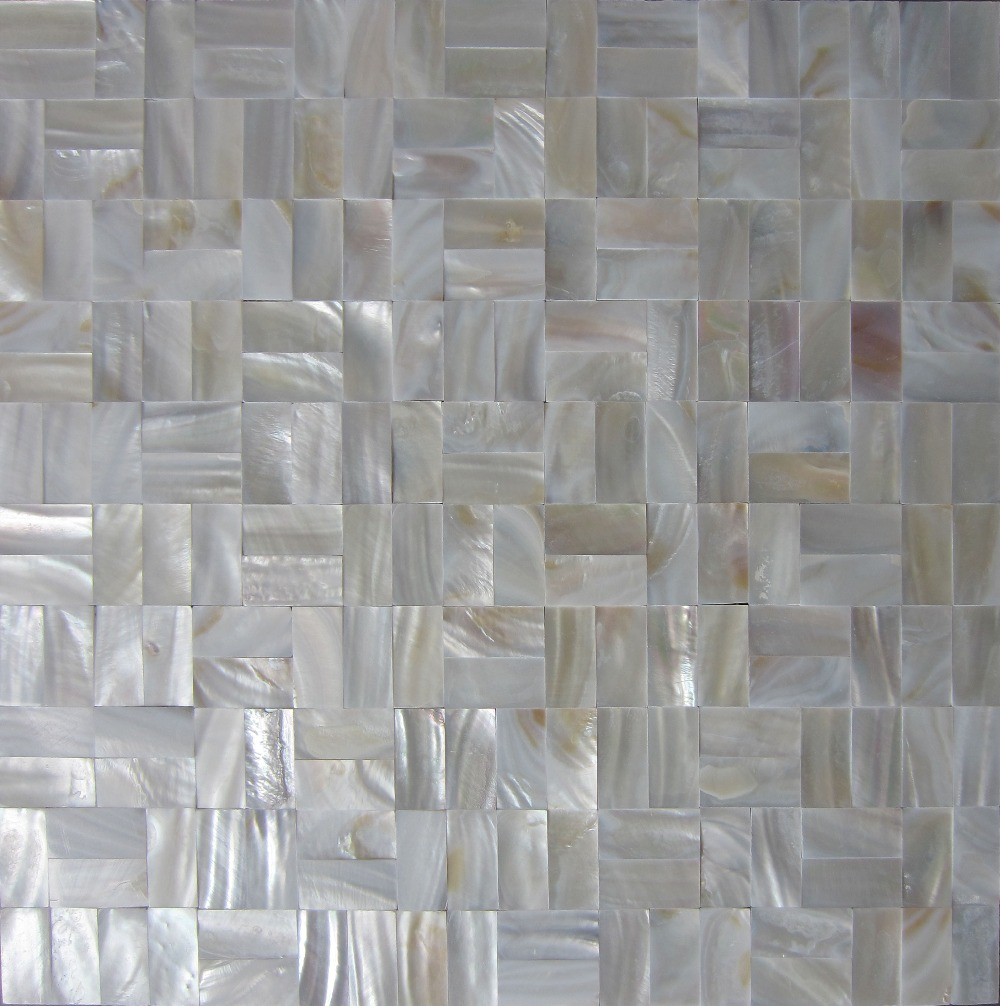 Natural Strip White Shell Mosaic Tile Mother Of Pearl Kitchen Backsplash Bathroom Background Wall Paper Decorative Tiles Wallpapers Aliexpress