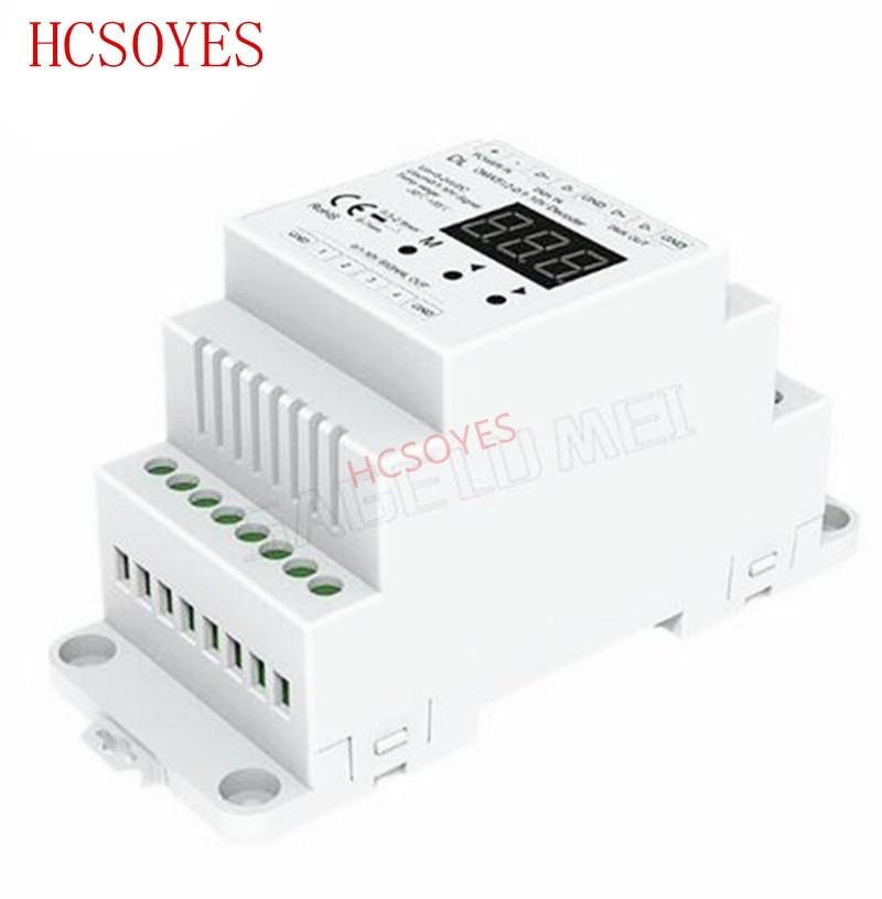 DL 4 Channel DMX512 To 1-10V / 0-10V Decoder ;DC5-24V Input;4CH 20mA/CH 10V PWM DMX Decoder Setting Dmx Address Track Type