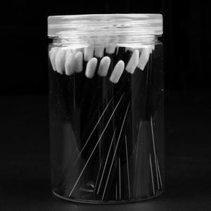 Набор кисточек для макияжа, 100 шт., одноразовые щеточки для макияжа