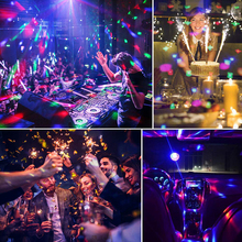 Remote Control 6 Colors Sound Activated Led Party Lights USB Stage Disco Ball Light D30