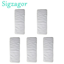 [Sigzagor]5 Junior Diaper Inserts For 2 7 years old Big Kids Toddler Incontinence Disable Reusable Cloth Nappy Microfiber 3Layer