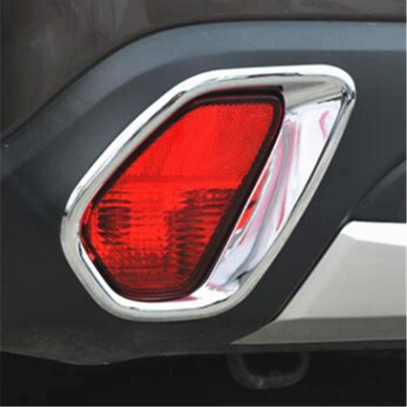 Travel & Roadway Product For Mitsubishi Outlander 2013 Rear Tail Fog Light Lamp Cover Trim 2pcs