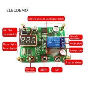 Image 2 - CNC zamanlama röle modülü ses ve ışık alarmı 0 ~ 999S zamanlama Optocoupler izolasyon 6 ~ 36V güç tedarik