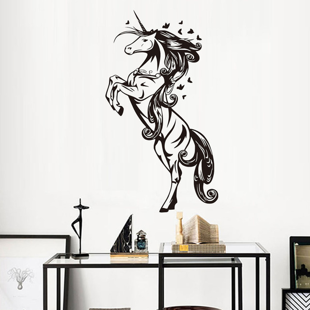 Free Shipping Magical Erflies Horse Wall Stickers Baby S Room Decoration Pvc Removable Decals Nursery Home