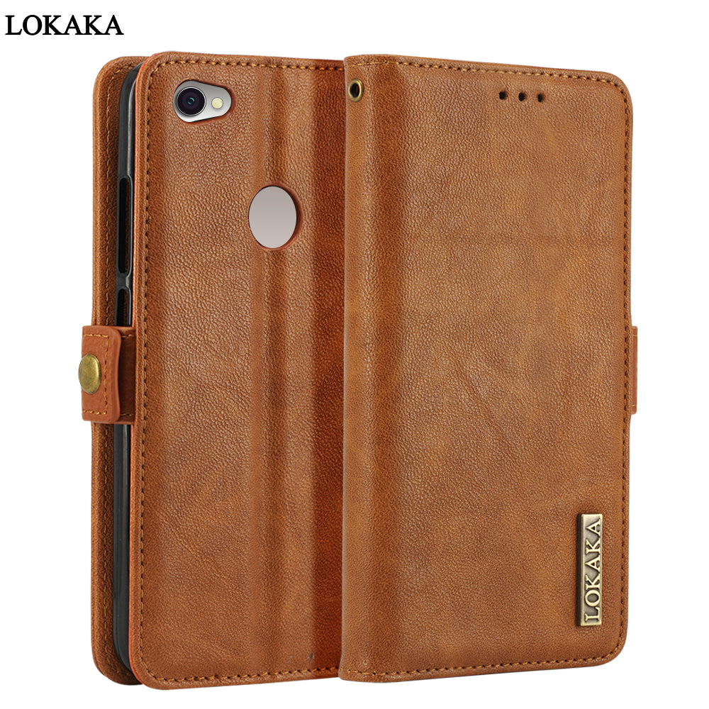LOKAKA For Xiaomi Redmi Note 5A Pro Case Flip Wallet Redmi Note 5A Cases Back Cover For Xiaomi Redmi Y1 Y 1 5.5 inch Coque
