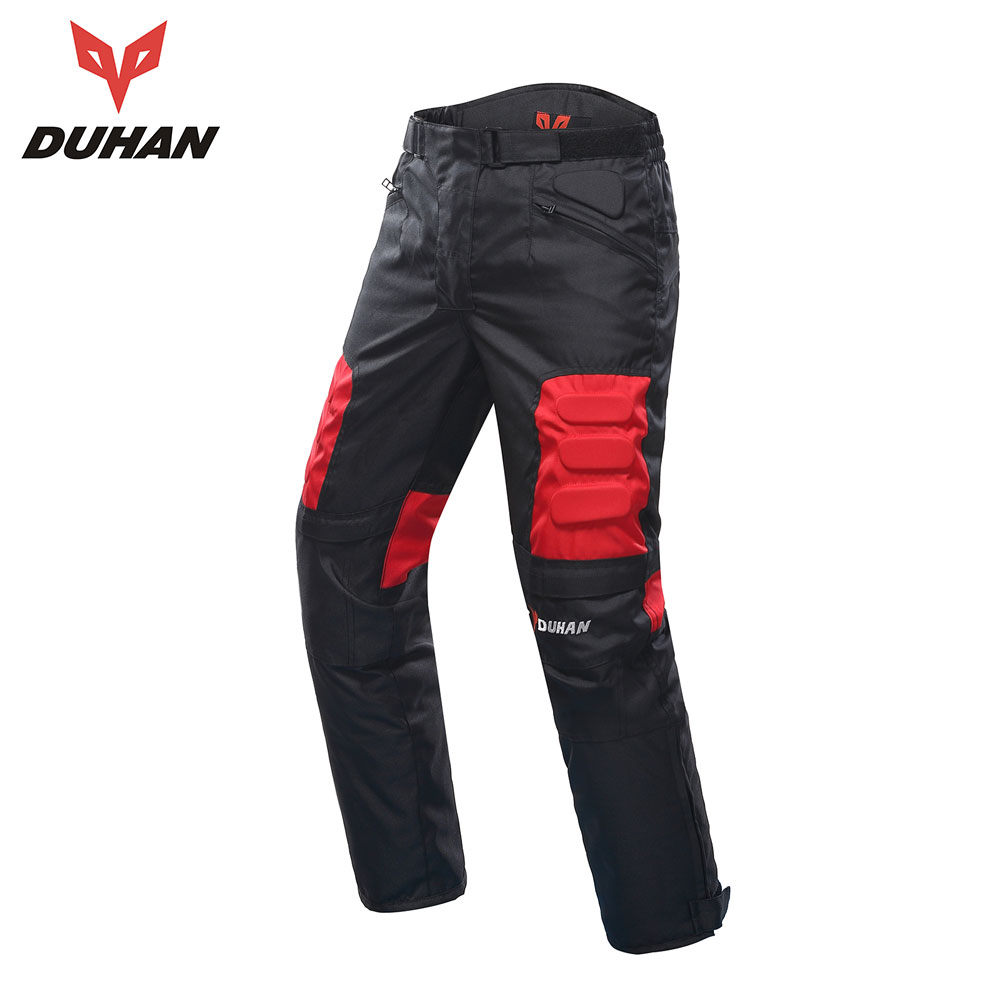 DUHAN Motorcycle Pants Men Moto Motocross Pants Enduro Riding Trousers Motocross Off-Road Racing Sports Knee Protective Trousers duhan motorcycle waterproof saddle bags riding travel luggage moto racing tool tail bags black multifunction side bag 1 pair