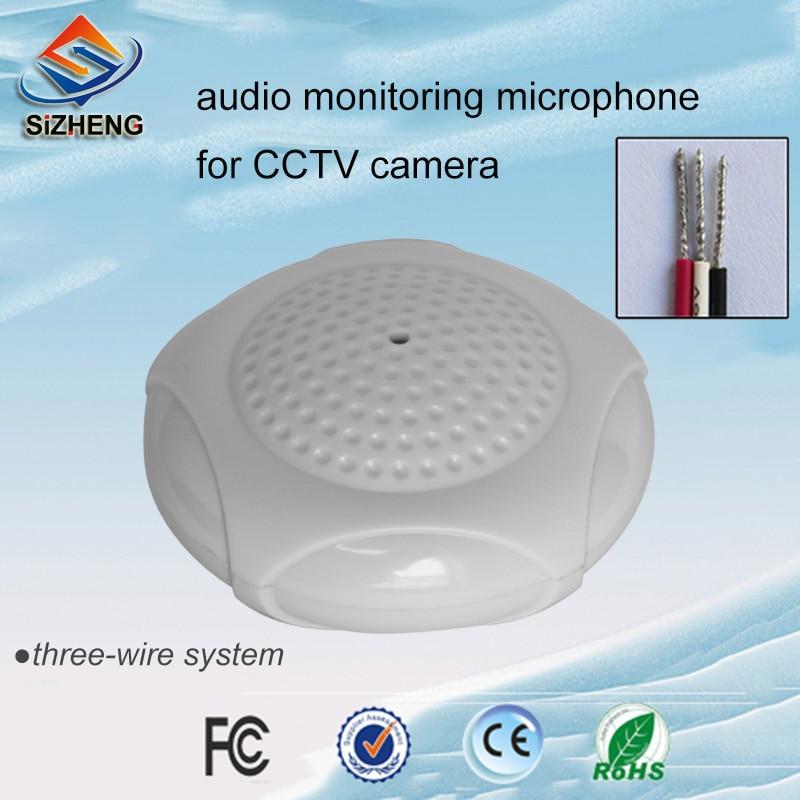 SIZHENG COTT-QD28 Teto CCTV microfone inteligente monitoração de áudio hi-fi sensível captação de som para sistema de câmera de segurança DVR