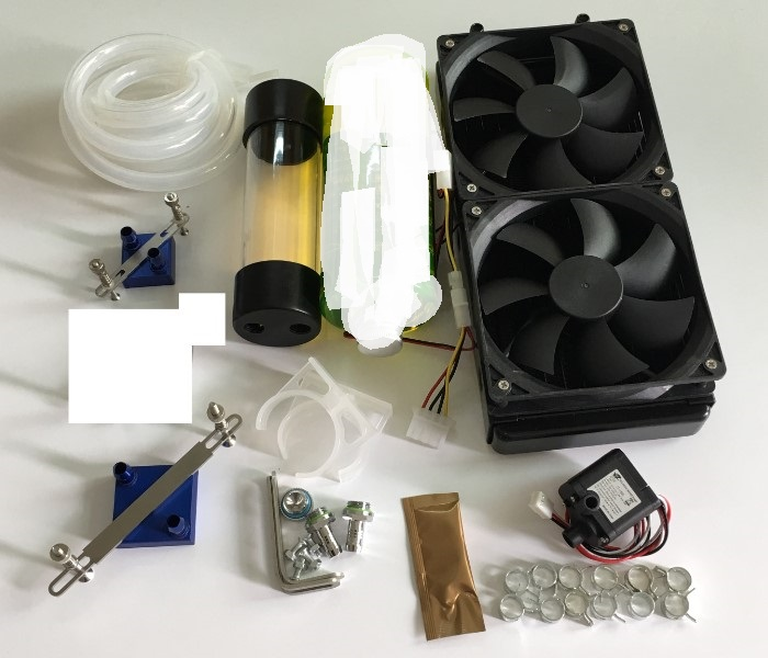 Computer graphics CPU  radiator water-cooling jacket water pump head tank cooling liquid CPU Host Bridge 240 cold row graphics card water cooling radiator cpu fan water liquid dynamic cooling system mute copper aluminum cooler base for intel amd