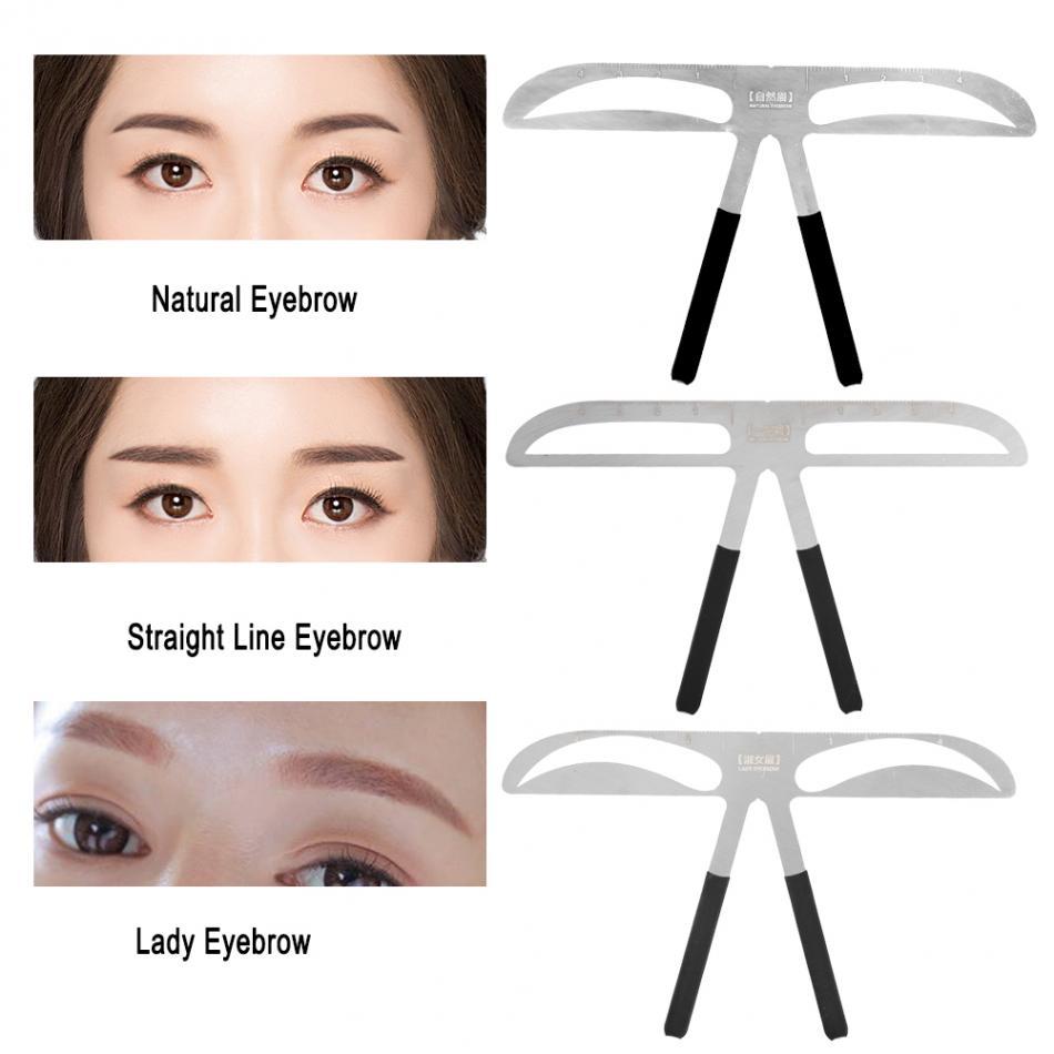 Gleader 5 Pcs Eyebrow Template Stencil Shaping Tool Grooming Diy Beauty