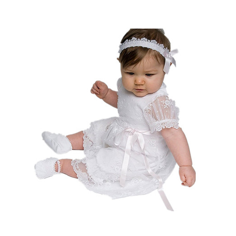 BBWOWLIN Newborn Baby Girl Christening Gowns Dress for 0-2T Baby Girls Baptism First Communion Dress Flower Girl Dresses 80250 bbwowlin white newborn baby girl christening gowns headdress 1 year birthday dress first communion dresses for girls 90138