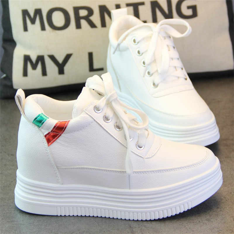 SWYIVY Increased Sneakers White Shoes