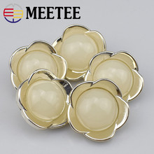 30pcs Meetee High-grade flower shape Plastic button for suit  coat ,sweater Clothing Accessory DIY Sewing Crafts B2-3