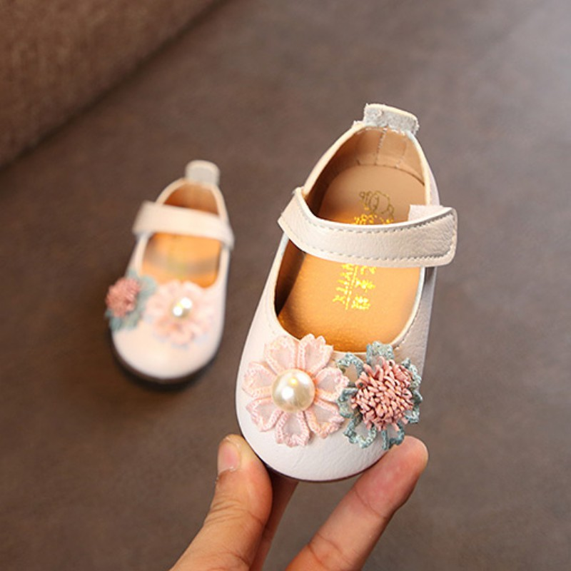 WEIXINBUY Cute Flower Children Shoes Girls Spring Autumn Girls Princess Casual Shoes For Autumn