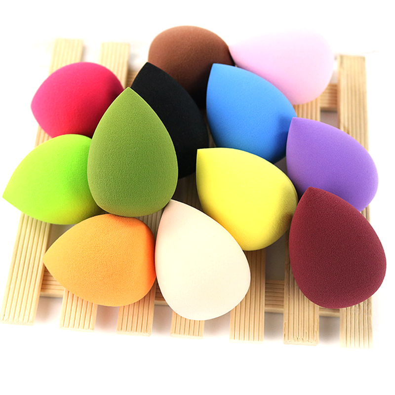 12pcs/lot Multi colors Sponges Makeup brushes set Foundation Blender Cosmetics powder Puff cream Blending applicators Tools kits(China)