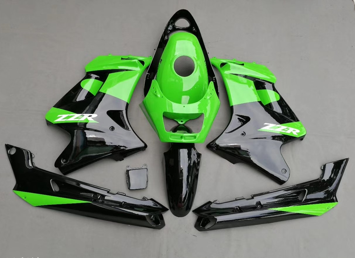 Motorcycle ABS Fairing For Kawasaki ZZR250 ZZR 250 ZZ-R250 2007 - 2009 2009 07 08 09 Fairings Kit Bodywork Green Injection Mold