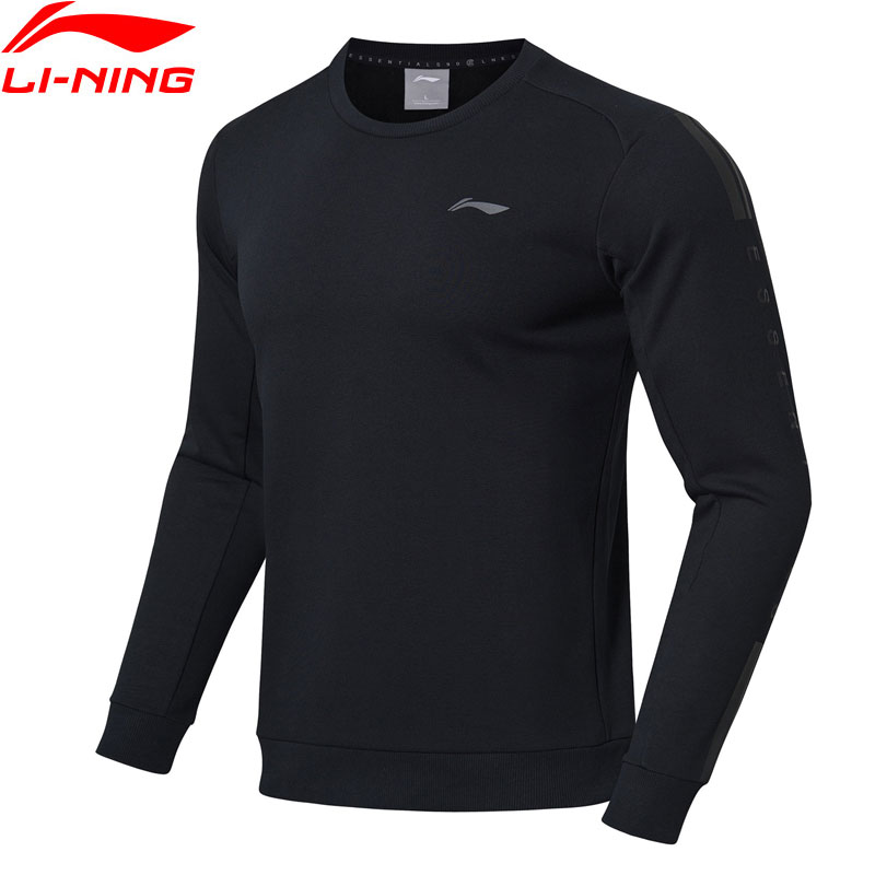Li-Ning Men Training Series Sweater Regular Fit 60% Cotton 40% Polyester LiNing Comfort Sports Tops Sweaters AWDN871 MWW1434 sweater