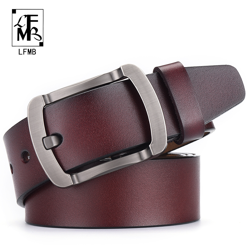 [LFMB]belt male leather belt for men cummerbunds genuine strap brand designer belts high quality ceinture homme