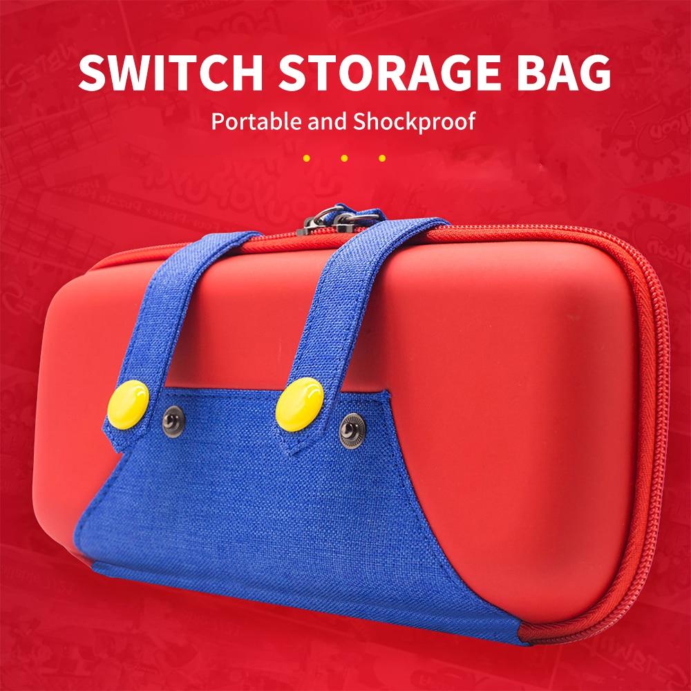 Funda protectora de viaje para Nintendo Switch NS NX, bolsa fina, accesorios, funda de almacenamiento Bolsa de almacenamiento de pata de rana de datos para Nintendo Switch/Switch Lite Console estuche portátil de transporte para accesorios de juego NS Lite