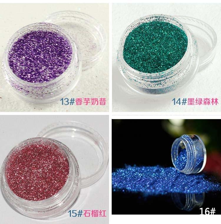 DIY Nail Art Glitter Polvere Della Polvere Della Decorazione kit Per ... c15e83697d3