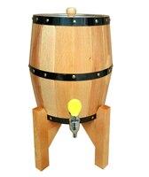 Free shipping 3L Beer Barrel Wine Barrel Bar Hotel Sets Nature Wooden Barrel Decoration Stainless Steel Liner Bucket Lron Faucet