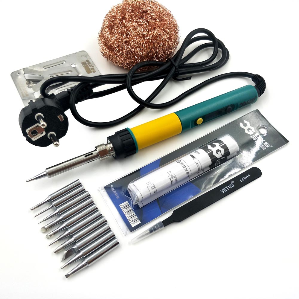 CXG <font><b>936D</b></font>+ <font><b>LCD</b></font> Digital Electric Soldering Iron Backlight Adjustable Temperature Internal Heating Soldering Station <font><b>936D</b></font> Updated image