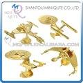 Мини Qute Частей Весело 3D Golden Star Trek Uss Enterprise клингонский Vorcha хищная Птица Металлические Головоломки взрослые модели образования игрушка