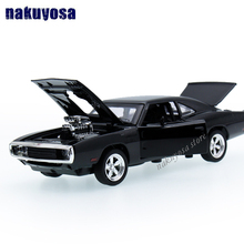 1 32 kids toys Fast Furious 7 Dodge Charger metal toy cars model pull back car