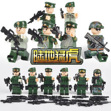 Modern military brickmania figures Land tiger building block china army force minifigs weapon bricks toys for boys gifts(China)