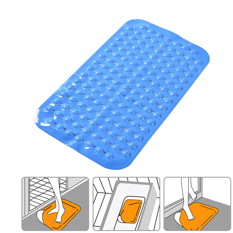 Massage Anti Skid Bath Mat Pvc Strong Suction Cups Non