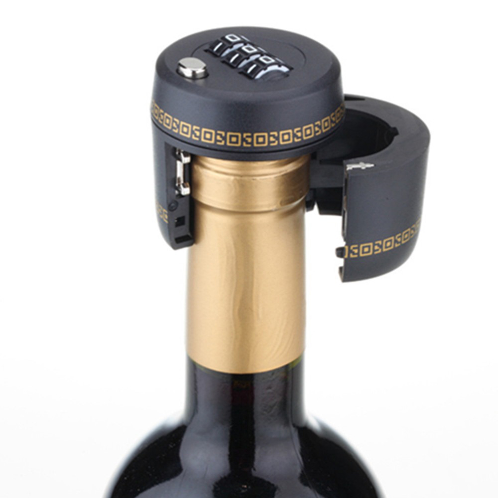 New Plastic Bottle Password Lock Combination Lock Wine stopper vacuum plug Fechadura Picks Candados Stopper Preservation
