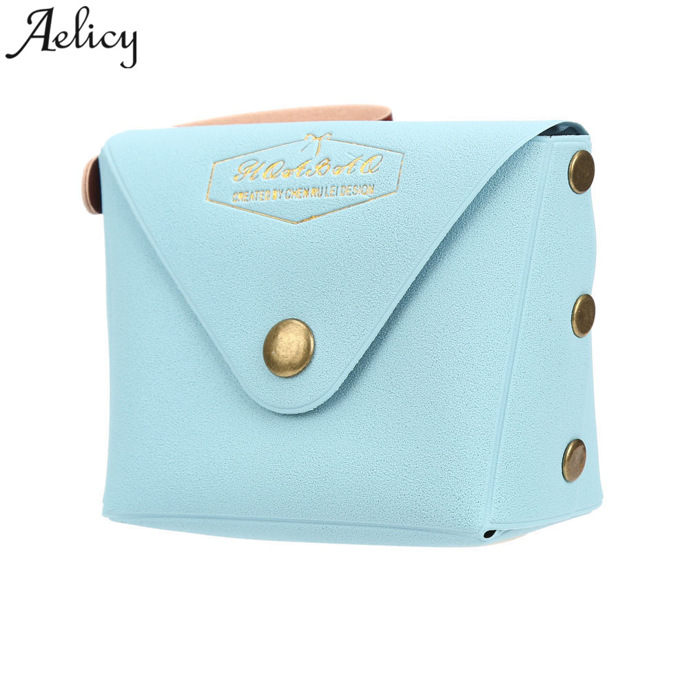 Aelicy 2018 Hot New Fashion Light High Quality Women Girls Student Macaron Bow Serie Fashion Change Purse