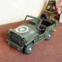 Creative Diy Iron miniatures Craft Vintage Car Model Children Toy Birthday Gift Tin Figurine Vintage Home Decoration metal craft