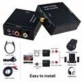2016 Más Reciente 3.5mm Digital Toslink Coaxial Óptico al Analógico L/R RCA de Audio Adaptador Convertidor De Alta Calidad Libre gratis