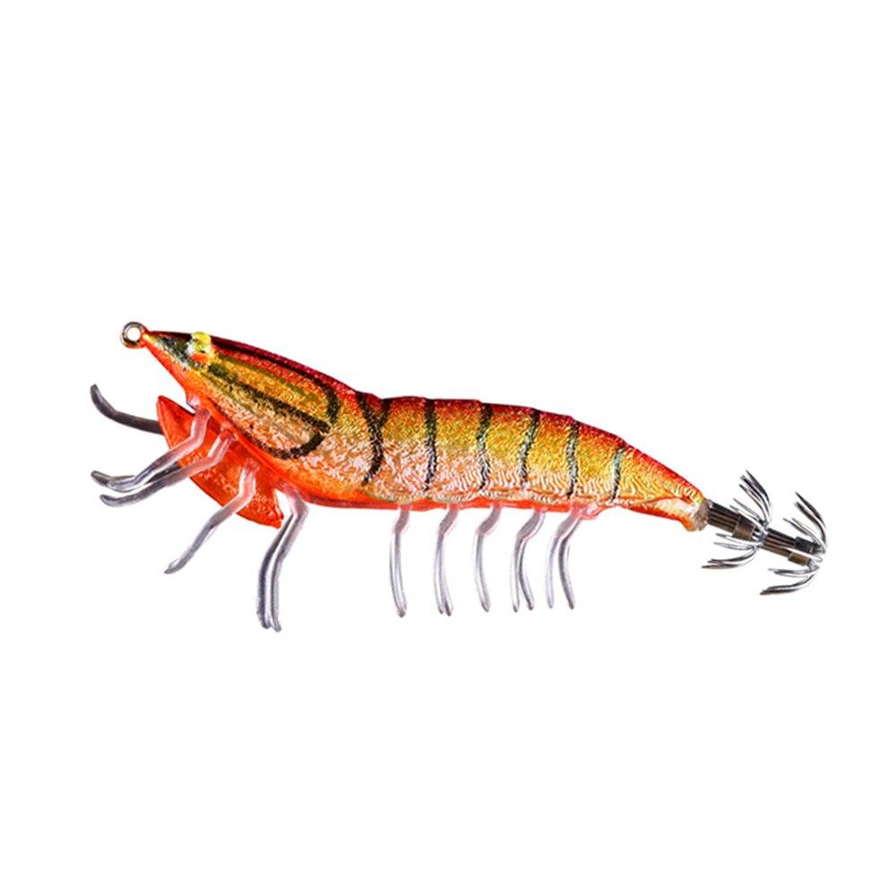 Le-peixe Gênio Ecooda Isca Biônico Com Chumbo Olhos Luminosos Camarão 75 MM 12G E 95 MM 20G Cores Diferentes Lula Gancho Isca de Pesca