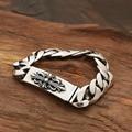 2015 Cross Army flower bracelet bend cards 925 sterling silver bracelet bangle for men loom bands silver 925 fine jewelry GB22