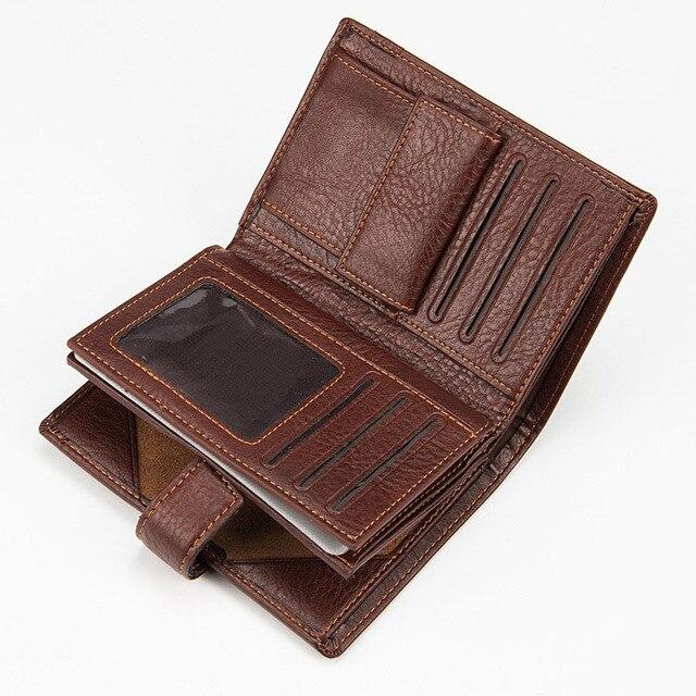 a1dda49737f Baellerry Merk Paspoort Portemonnee Mannen Echt Lederen Portefeuilles  Vintage Kaarthouder Paspoort Cover Case mannen Purse Reizen