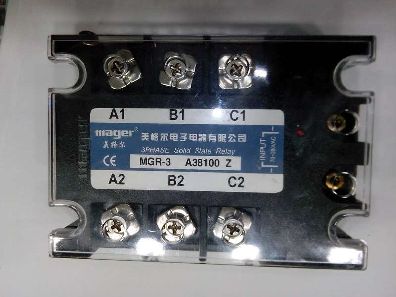 mager Three-phase solid state relay MGR-3 A38100Z 100A mager ssr 100a dc ac solid state relay quality goods mgr 1 d4100