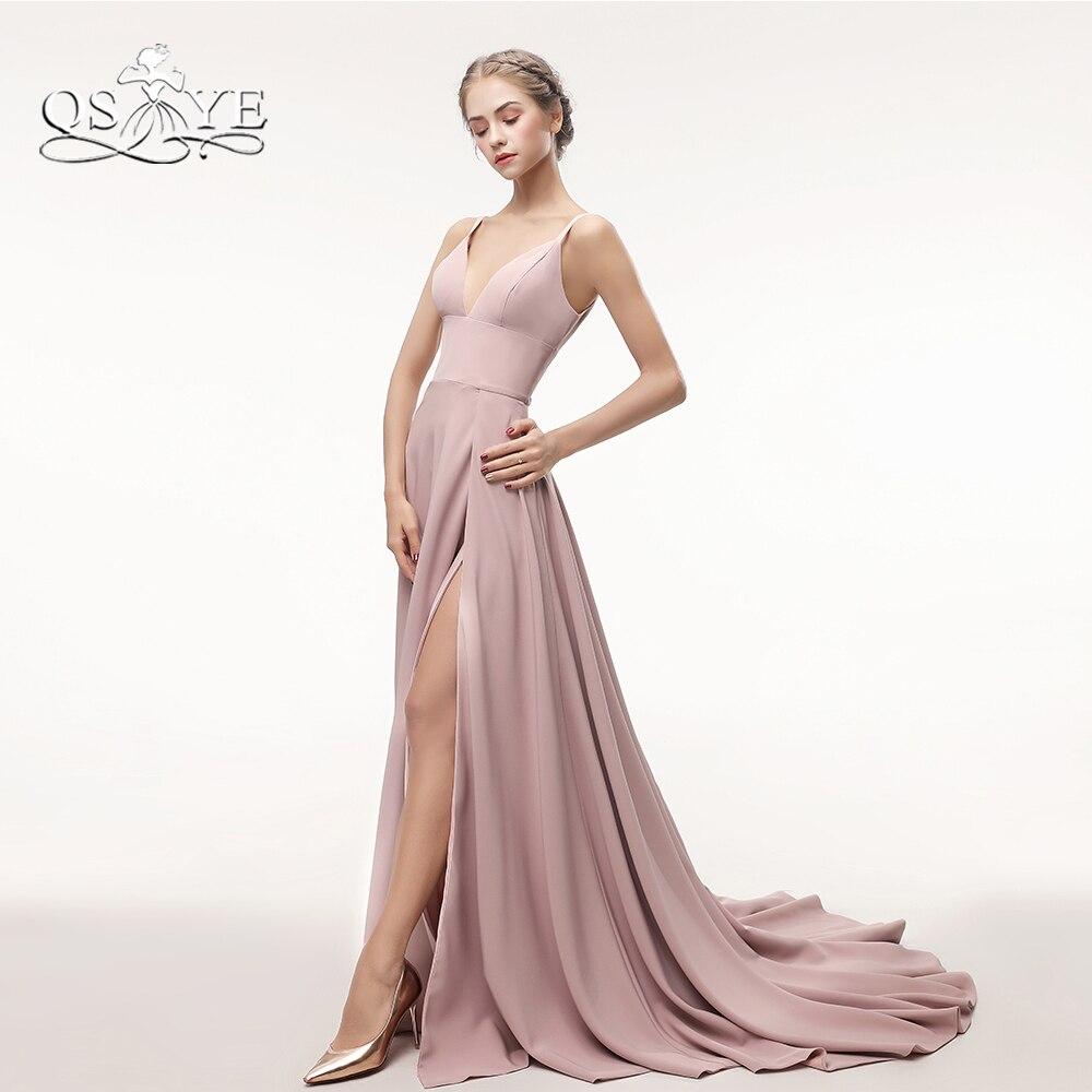 QSYYE Luxury Beading Long Prom Dresses 2018 Sexy Mermaid V Neck ...