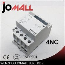 4p 32a 40a 63a 220v/230v 50/60hz din rail ac контактор для дома