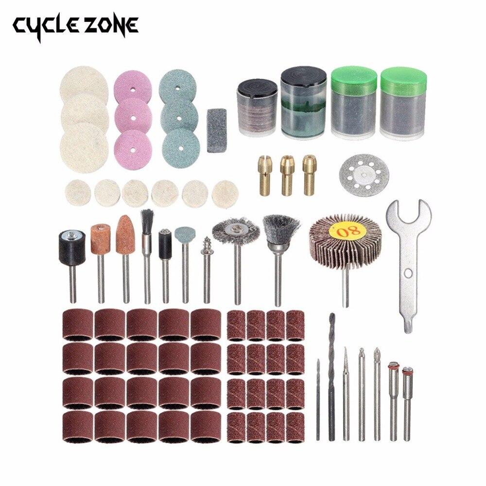 200 PCs Rotary Power Tool Set Mini Drill Kit Fits Abrasive Shank Sanding Polishing Cutting Grinding Tool Polish Accessory Bit