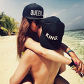 2016 CA291 White on Black King Queen Letters Outdoor Fashion Lovers Hat Baseball Caps