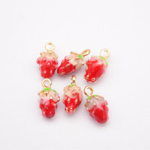 20pcs fruit Pendant strawberry Charm For Necklace Dangle Charm For Bracelet charm diy jewelry findings