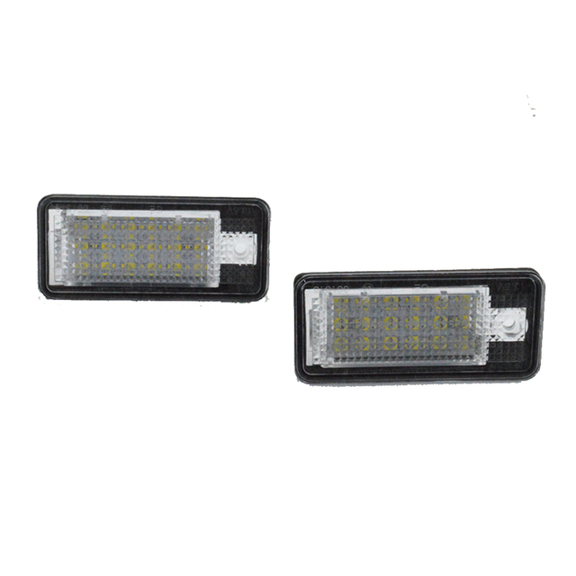 Canbus LED License plate light number plate lamp for Audi A3 A4 S4 RS4 B6 B7 A6 RS6 S6 C6 A5 S5 2D Cabrio Q7 A8 S8 RS4 Avant