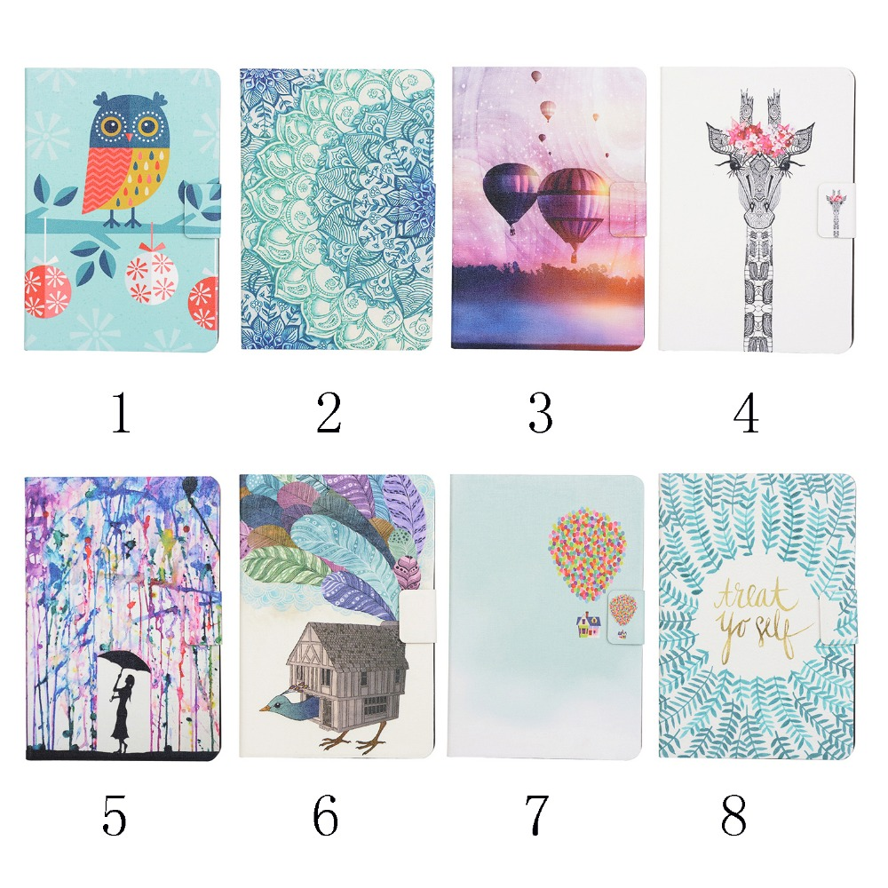 Green Flower 8 Pattern New Design Stand Design Magnetic Leather Case for ipad mini Smart Cover Smartcover Utrathin Fashion Style