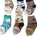 Nova 2016 de algodão meias crianças moda antiderrapante meias bebê dos desenhos animados Casual All jogo meias 5 pares/lote