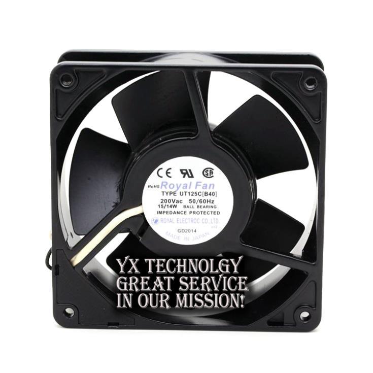 ФОТО New UT125C [B40] 12038 200V 15 / 14W all-metal fan  for Royal Fan 120*120*38mm