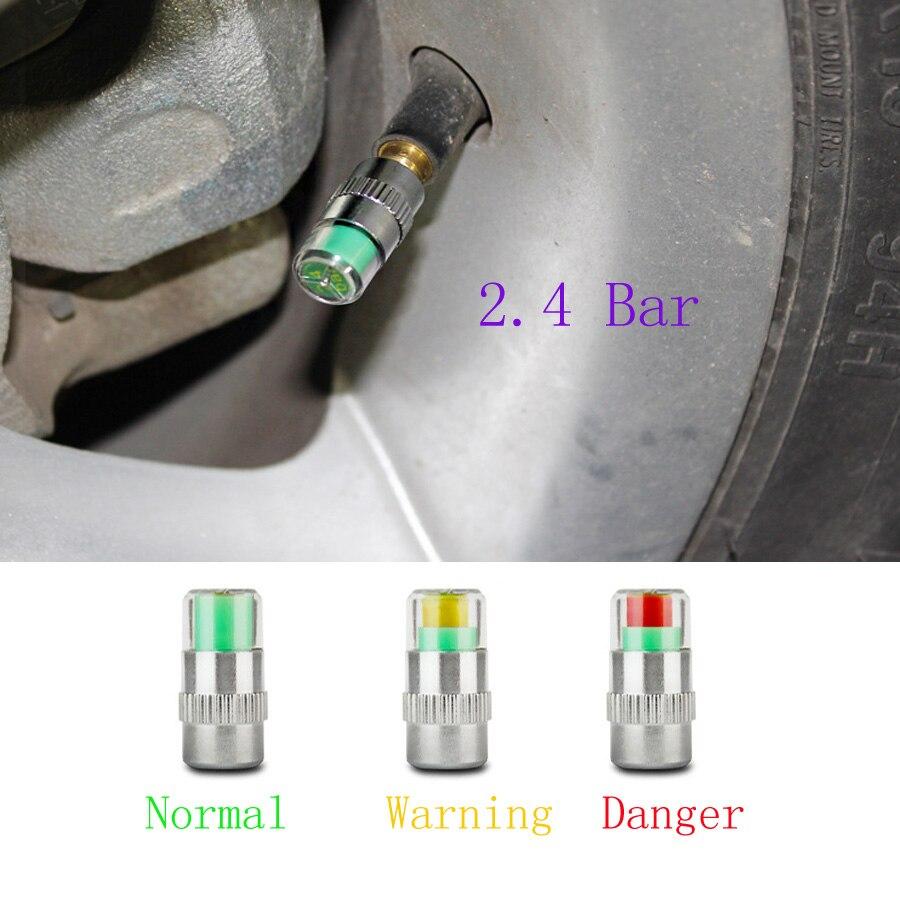 Автомобильный датчик давления в шинах, 2,4 Бар, датчик давления в шинах, 3 цвета, датчик давления воздуха, 4 шт./лот