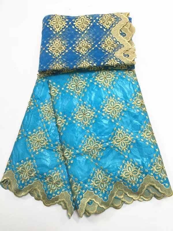2018 Африканский вышивкой из бисера парча Кружево Ткань Базен Riche Getzner с 2 ярдов французский чистая Кружево Нигерия свадебное платье pbz16-1