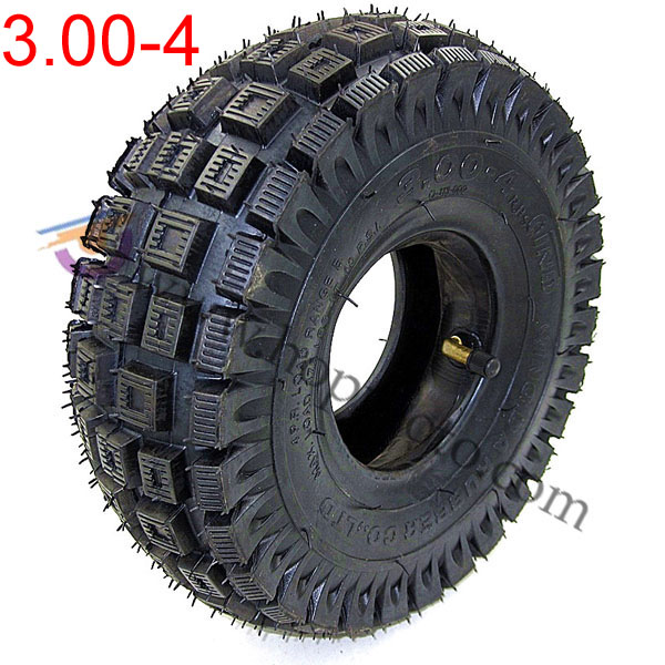3.00-4 Scooter tyre with inner tube Mini ATV wheel tyre For Front Rear Wheel Tires Off Road pattern Wheel Tires image